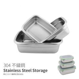 NTF172 304不鏽鋼密封餐盒 餐碗 餐盤 三件套350 550 850ml
